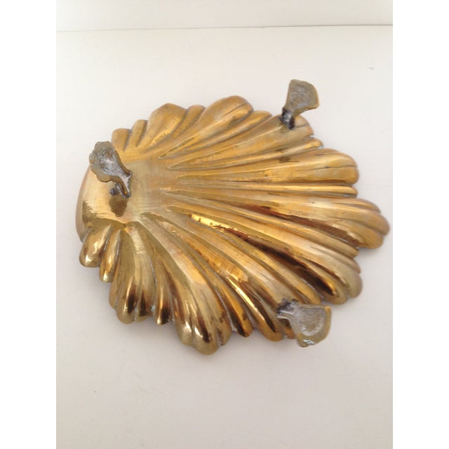 Vintage Brass Shell Dish - Image 4 of 4