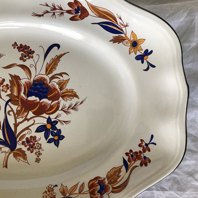 """French French Faience Luneville """"Paquerette"""" Serving Dish For Sale - Image 3 of 7"""