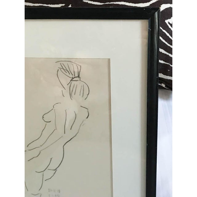 Vintage Nude Drawing, Signed For Sale In New York - Image 6 of 7