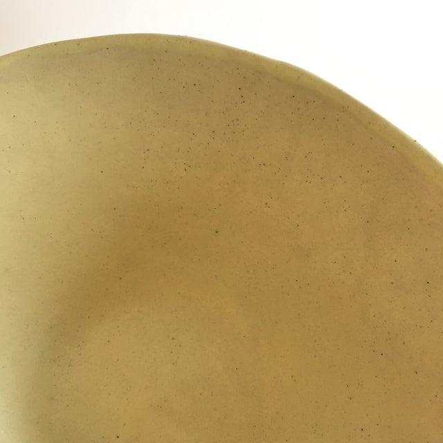 Christiane Perrochon Yellow Ceramic Bowl For Sale - Image 5 of 5