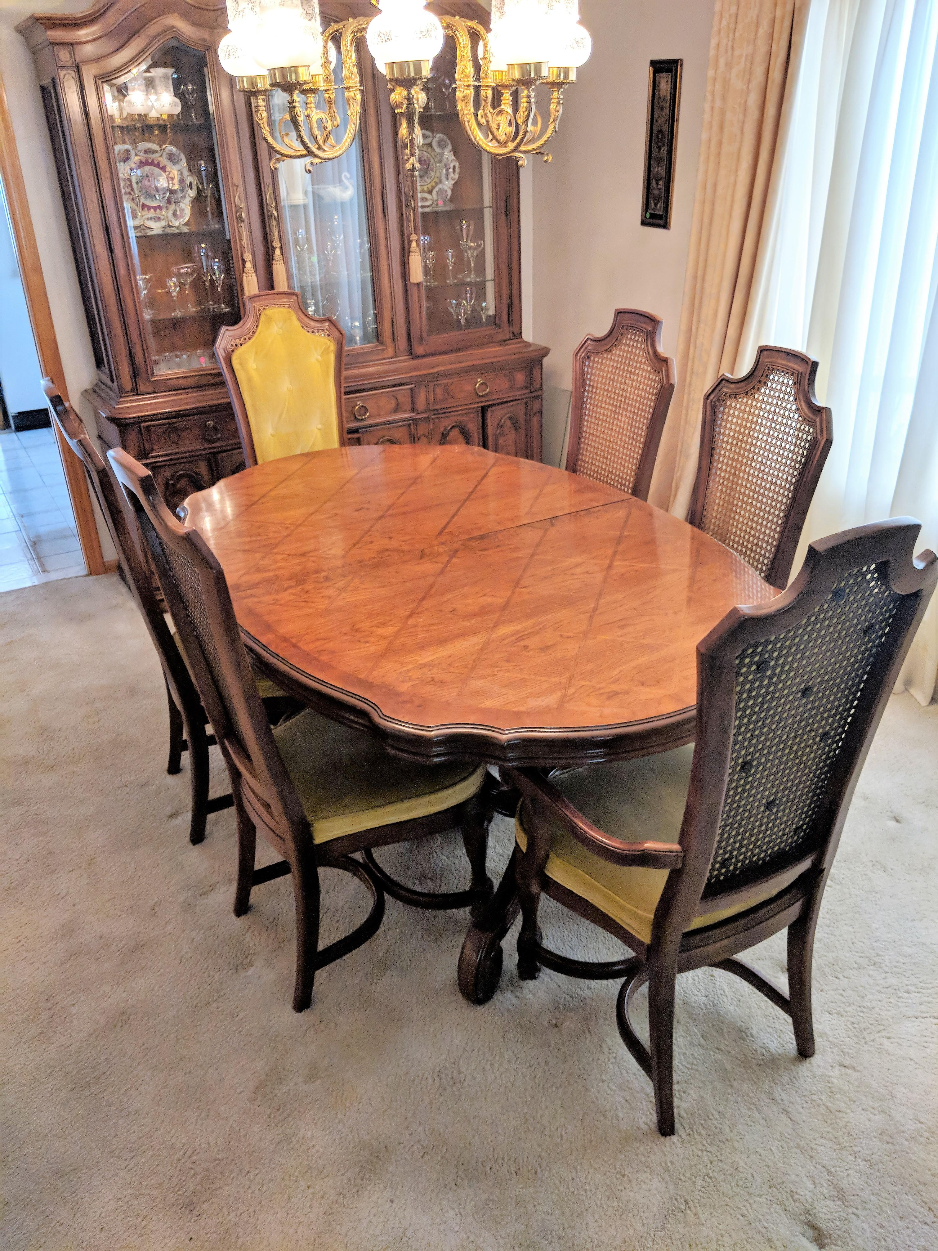 Thomasville Dining Room Set | Vintage Thomasville Dining Room Set Chairish