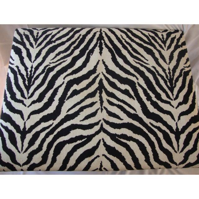 Ralph Lauren Style Zebra Ottoman For Sale - Image 5 of 6