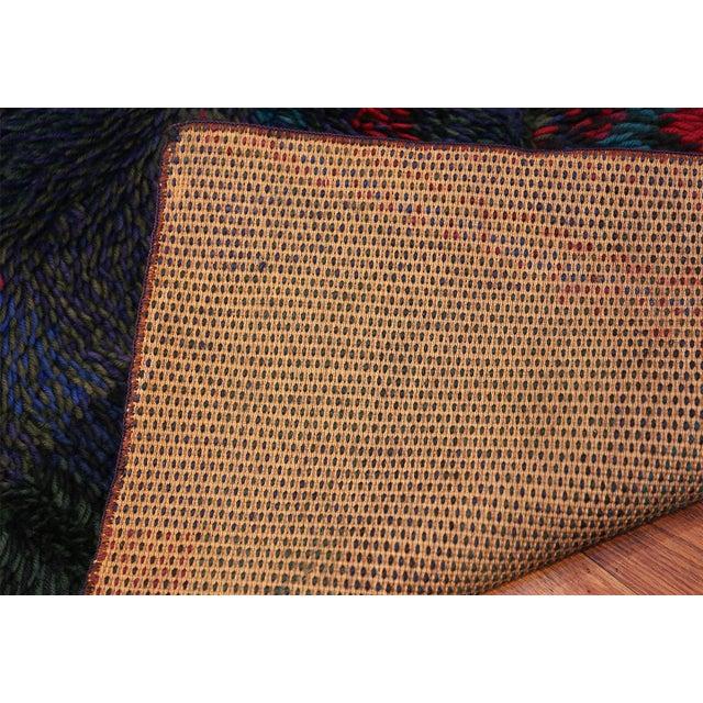 Vintage Scandinavian Rya Rug by Ritva Puotila - 4′5″ × 5′10″ For Sale - Image 9 of 10