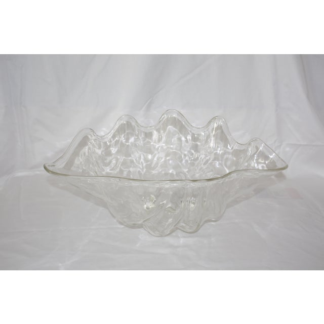 Oversize Acrylic Clam Shell Bowl For Sale - Image 4 of 5