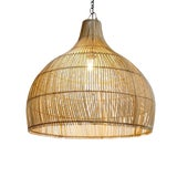 Image of Wicker Kuba Dome Lantern For Sale