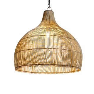Wicker Kuba Dome Lantern For Sale