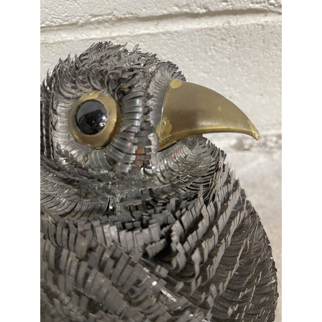 Sergio Bustamante Strip Metal Brutalist Bird For Sale In Richmond - Image 6 of 9