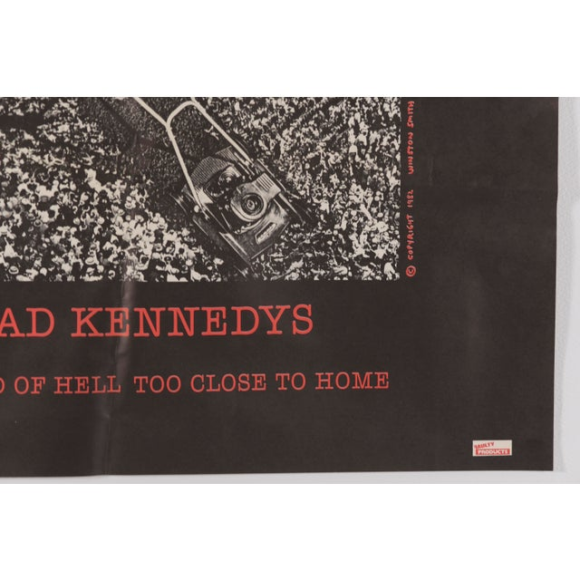 """1980s 1982 Dead Kennedys """"The Sound of Hell Too Close to Home"""" Promotional Poster Ronald Reagan For Sale - Image 5 of 11"""