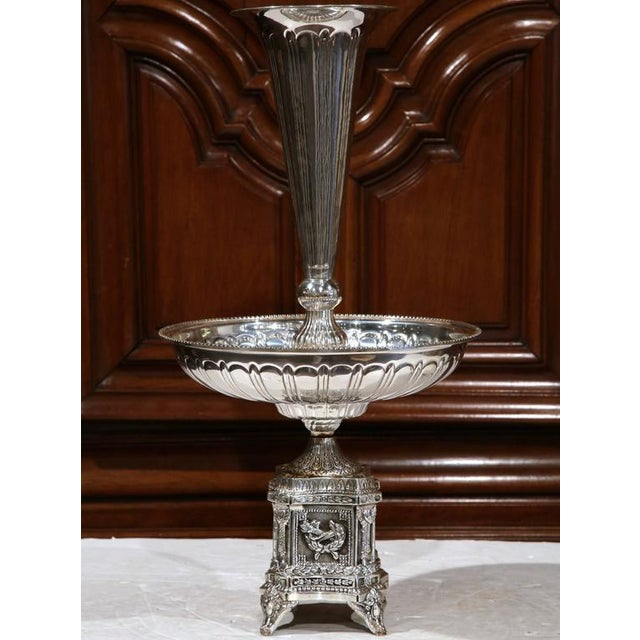Louis XV 19th Century French Louis XV Silver Plated Epergne Centerpiece For Sale - Image 3 of 8