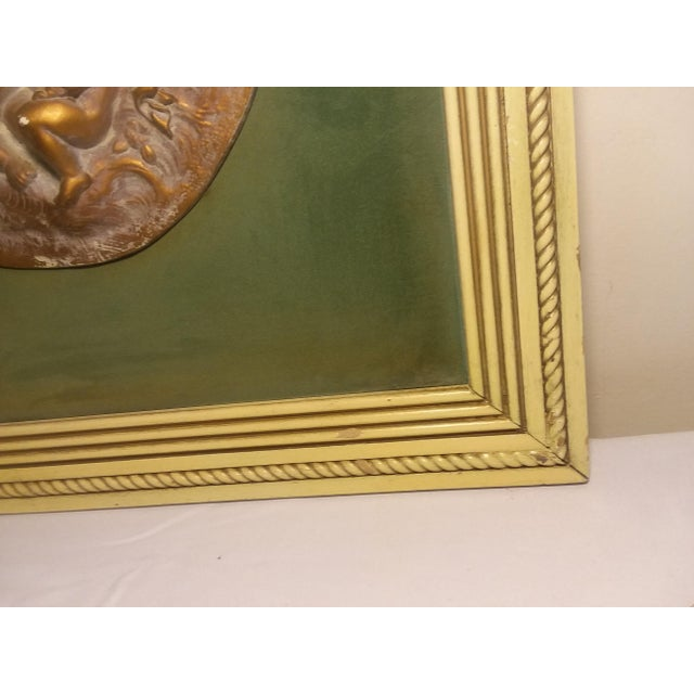 1950s Vintage Cherub Putti Bas Relief Plaques - a Pair For Sale - Image 10 of 12