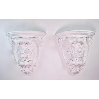 Antique French Plaster Wall Shelves - a Pair Preview