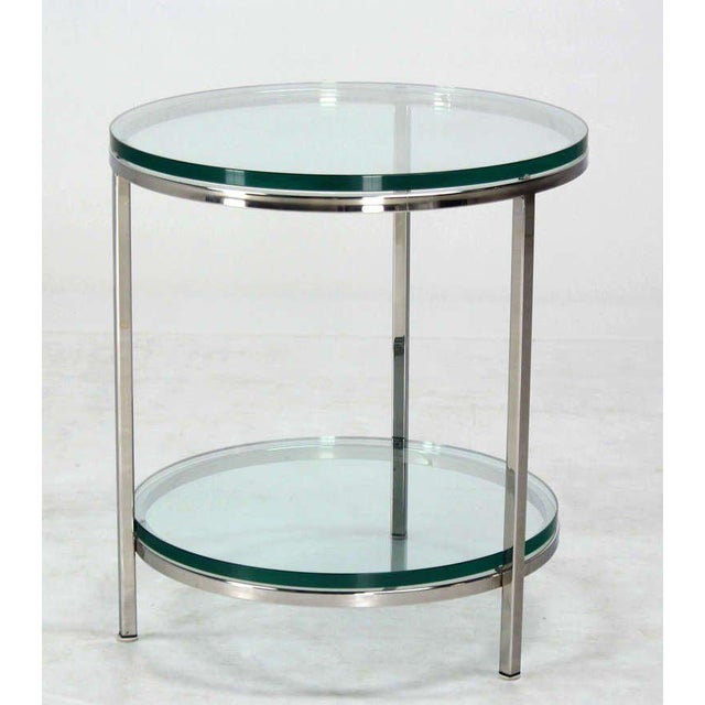 High Quality Mid Century Modern Chrome And Glass Center Table Side