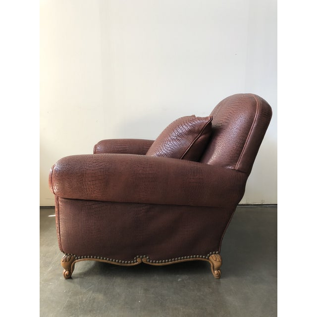2010s Ralph Lauren Home Marseilles Leather Club Chair For Sale - Image 5 of 10