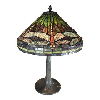 Vintage Louis Comfort Tiffany Style Lamp For Sale