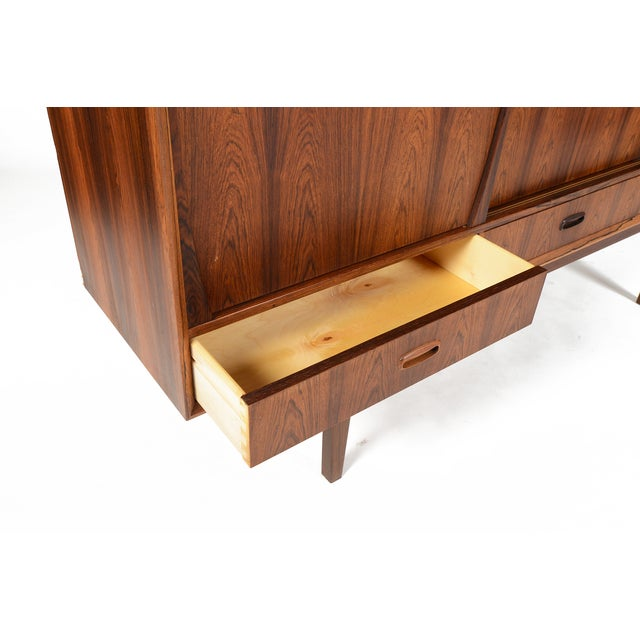 Tall Danish Modern Rosewood Credenza - Image 9 of 10