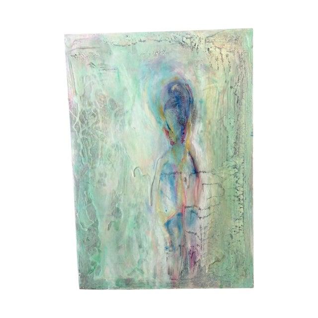 'Aqua Man' Acrylic Painting on Wood - Image 1 of 3