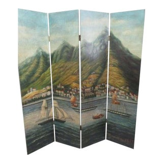 Maitland Smith Style Painted Room Divider