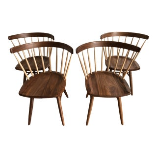 Nakashima Straight-Back Chairs - Set of 4 For Sale