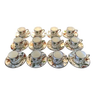 Hunting Scenes China Demitasse Sets - Service for 12 For Sale