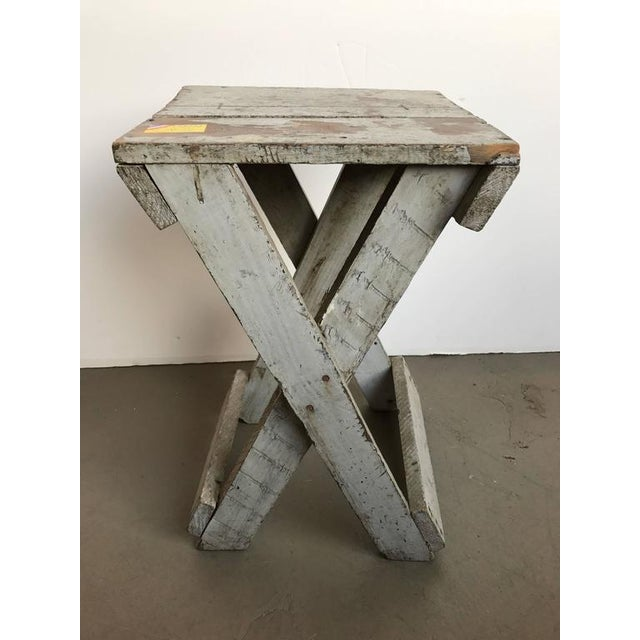 19th century rustic painted side table.
