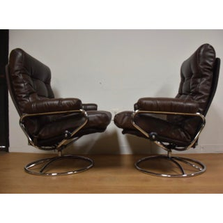 Ekornes Stressless Leather Recliners - a Pair Preview
