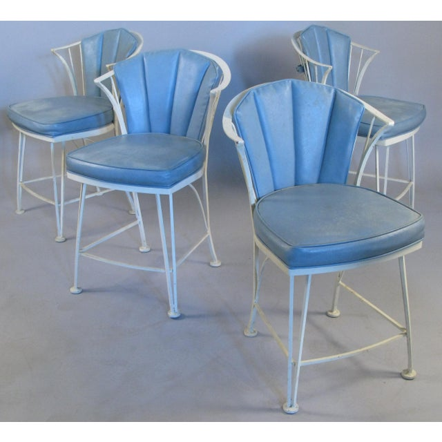 1950s Vintage Woodard Pinecrest Chairs with Original Cushions - Set of 4 For Sale - Image 10 of 10