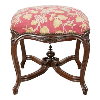 Late 19th Century Louis XV Rosewood Court Tabouret For Sale
