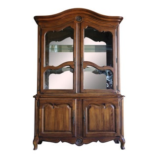 Ethan Allen Country French China Cabinet For Sale