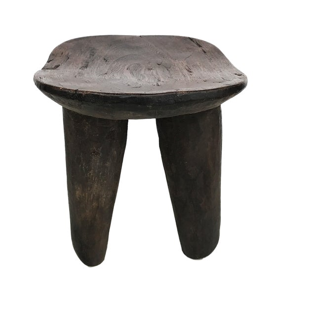 """African Old Senufo Wood Milk Stool I . Coast 12"""" W by 8"""" H For Sale In New York - Image 6 of 7"""