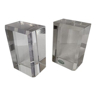 Astrolite Lucite Bookends - a Pair For Sale