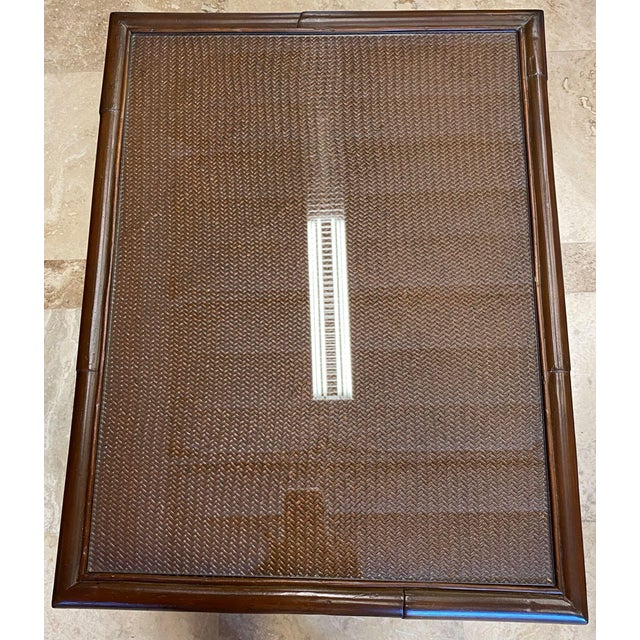 Asian Rattan End Table With Drop Shelves For Sale - Image 11 of 12
