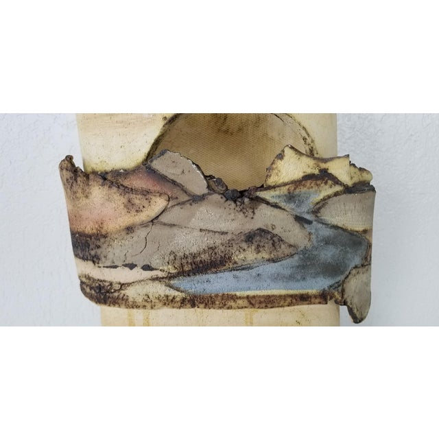 Mid-Century Modern 1985 Vintage Art Pottery With Landscape Motif, Signed For Sale - Image 3 of 11