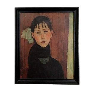"1954 Expressionist Swiss Print of Modigliani's ""La Petite Marie"" For Sale"