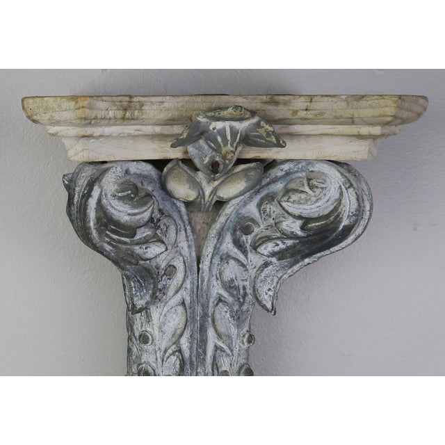 Gray Pair of French Painted Corbels, Circa 1940s For Sale - Image 8 of 13