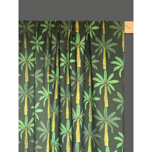 Not Yet Made - Made To Order Tropical Fabric in Mallard Green, Sample For Sale - Image 5 of 6