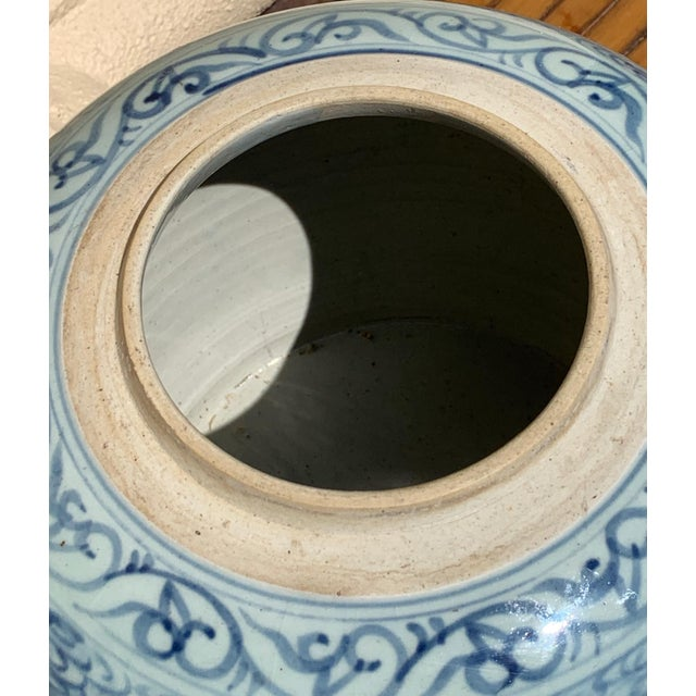 Chinese Blue and White Rice Jar/ Ginger Jar for New Year For Sale - Image 10 of 12
