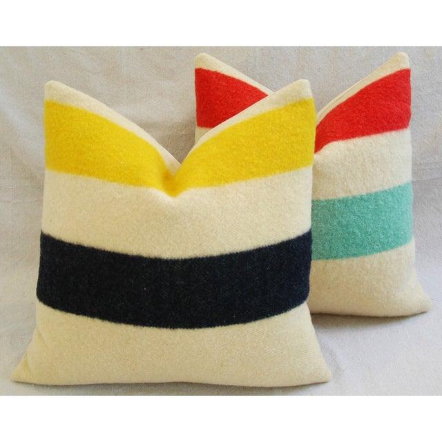 Multi-Striped Hudson's Bay Blanket Pillows - Pair - Image 6 of 11