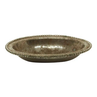 Nickel Over Brass Soap Dish
