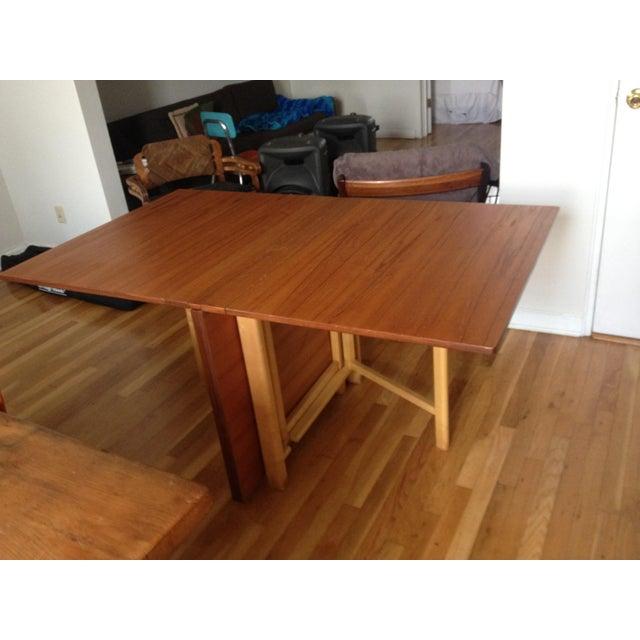 "Teak Expanding ""Maria Flap"" Table - Image 4 of 9"