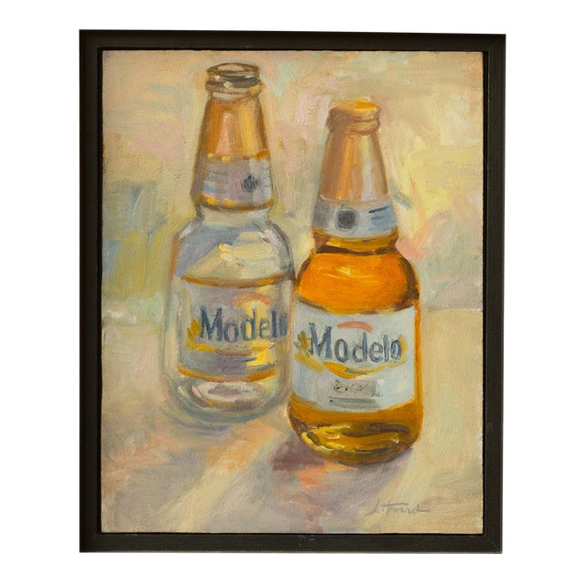 """""""Afternoon"""" Contemporary Still Life Oil Painting, Framed For Sale"""