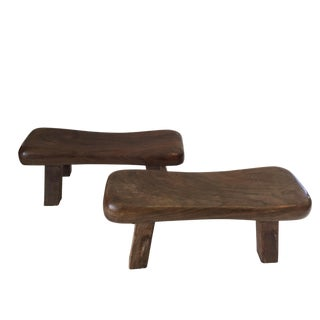 Solid wood Asian Head Rest/Stools