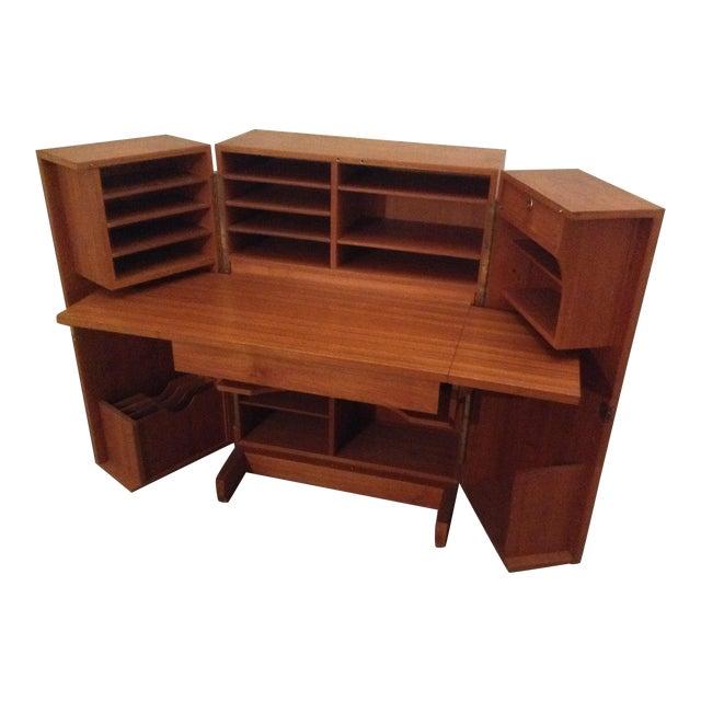 Mid-Century Modern Folding Secretary Desk For Sale