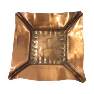 Mid-Century Copper Ashtray/Candle Holder For Sale