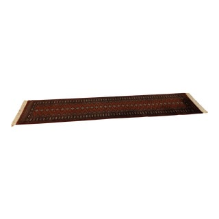 Hand Knotted Long Wool Runner Rug - Made in Pakistan For Sale