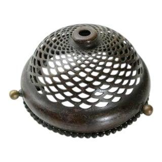 Antique Tiffany Studios Bronze Heat Cap / Shade Holder For Sale
