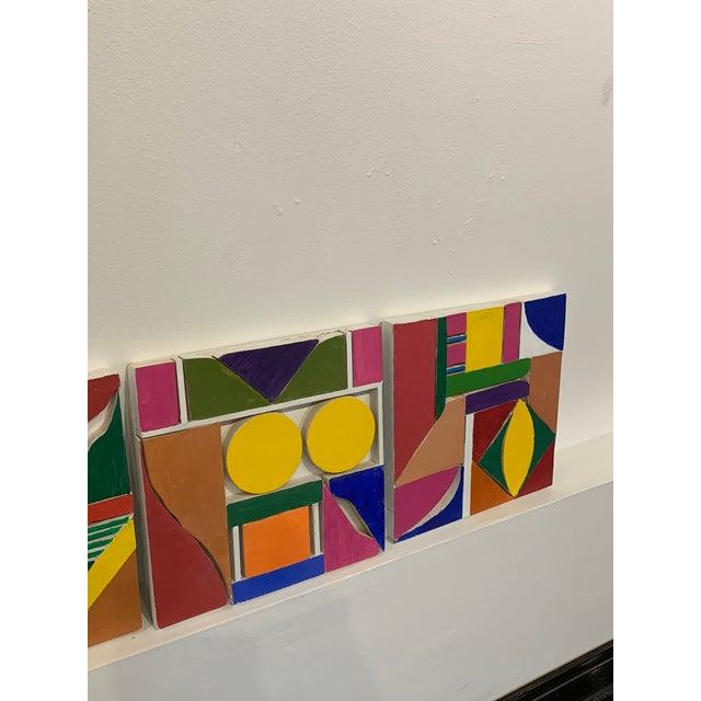 Pop Art Color Wood Blocks A. Mallow 1980s Sculpture For Sale - Image 3 of 6