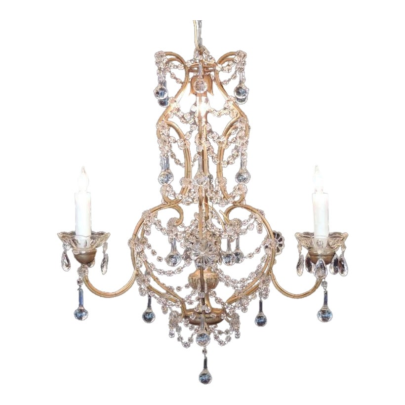 Fine early 20th c venetian crystal chandelier decaso aloadofball Images