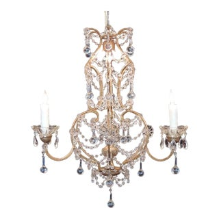 Early 20th C Venetian Crystal Chandelier For Sale
