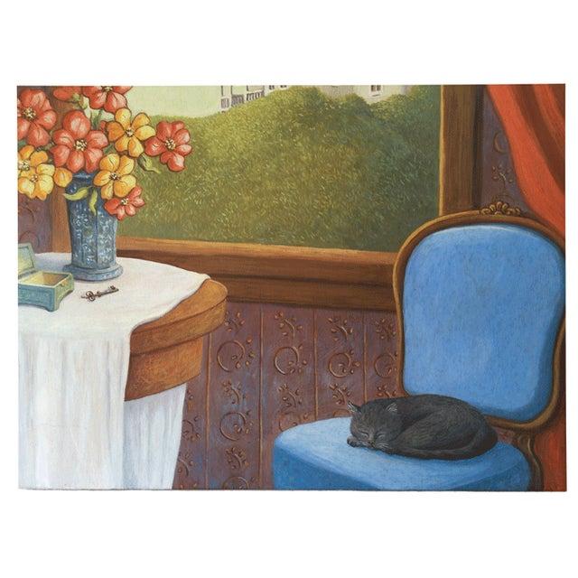 June Parrish Cookson Original Casein Painting - Image 4 of 6