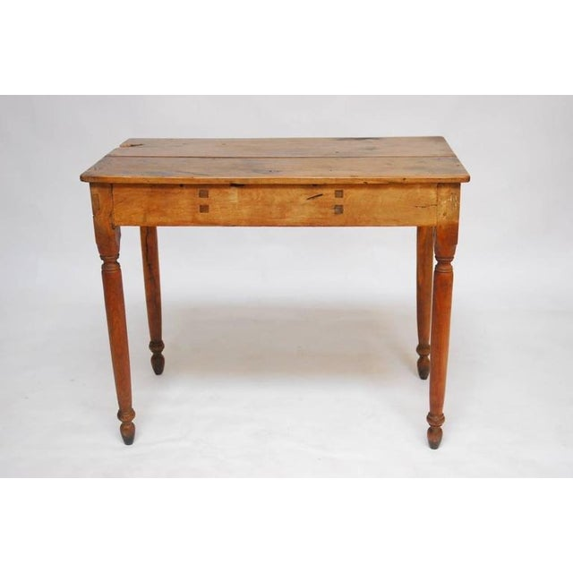 19th century french oak farm table chairish for Table th width